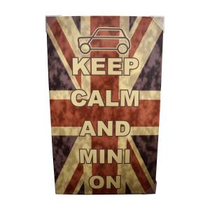 Cadre toile imprimée ''Keep Calm and Mini on'' Union Jack Austin Mini
