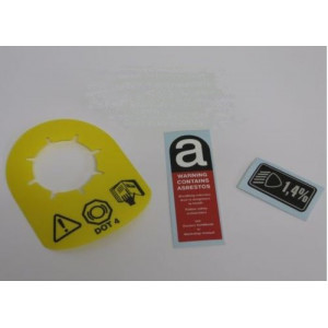 Kit autocollants face avant - Austin Mini -