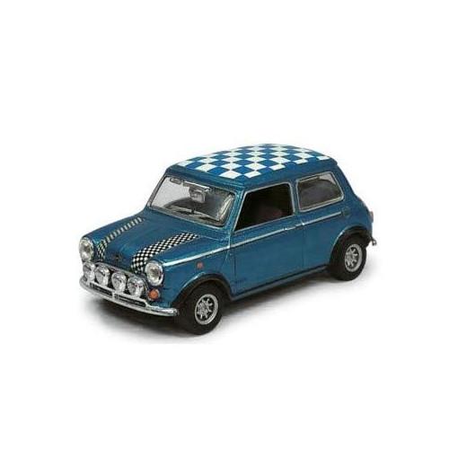 1/43 Mini Cooper racing bleu
