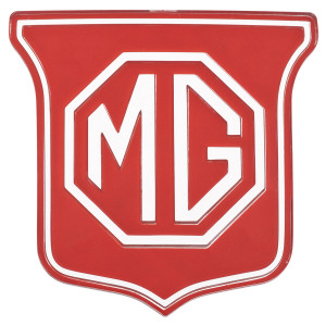 Badge de calandre alu rouge - MG MGB-MG MGB