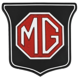 Badge de calandre alu noir - MG MGB