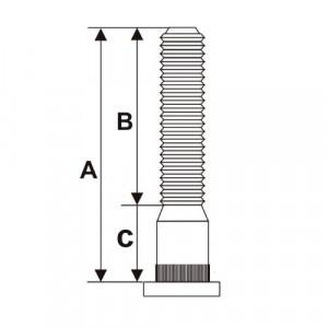 Goujon de roue 31mm / model B