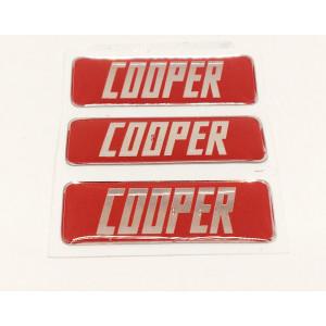 Kit de 3 autocollants ''COOPER'' Pour pédale alu-Austin Mini