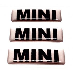 Kit de 3 autocollants '' MINI '' Pour pédale alu-Austin Mini