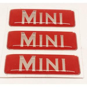 Kit de 3 autocollants '' MINI '' Pour pédale alu
