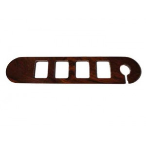 Garniture de support bouton / bois ronce de noyer / 4 boutons +