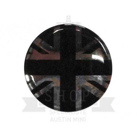 Autocolant rond Union Jack (noir/gris) (42mm) - Austin Mini