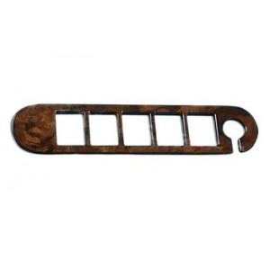 Garniture de support bouton / bois ronce de noyer / 5 boutons +