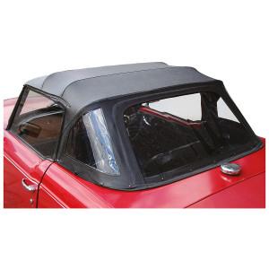 Capote - Triumph TR6 - Noir grain cuir-Triumph TR-6