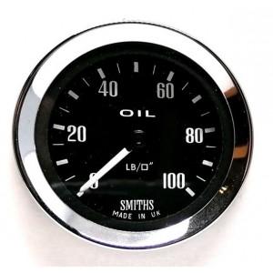 Jauge pression d'huile Mécanique Smith 0-100 lb - 2 Couleurs au