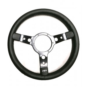Volant Mountney Cuir 14'' alu noir-Austin Mini