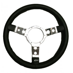 Volant Mountney Cuir 14'' alu-Austin Mini