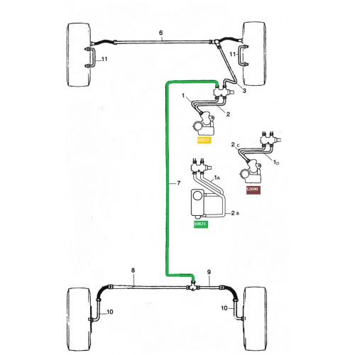 Tuyau de frein cuivre - liaison Av Ar / REP 7-Austin Mini