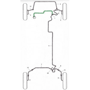 Tuyau de maître cylindre simple circuit - Austin Mini -