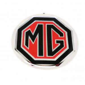 Autocollant MG noir et rouge (27 mm)-Austin Mini
