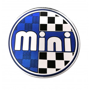 Autocollant badge / centre de roue'' MINI'' 42mm-Austin Mini