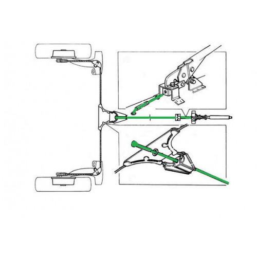 Câble de frein à main (liaison) 1976 - 2000 - Austin Mini