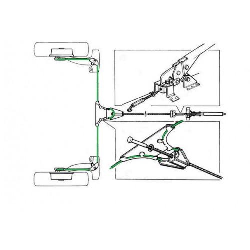 Câble de frein à main liaison bras Ar G/D 1976 - 2000-Austin