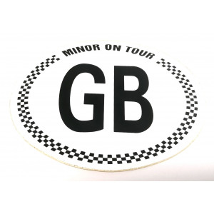 Autocollant ''GB MINOR on tour''-Austin Mini