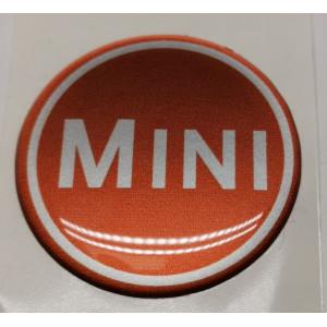 Autocollant rond mini gris et cuivré (42 mm)-Austin Mini