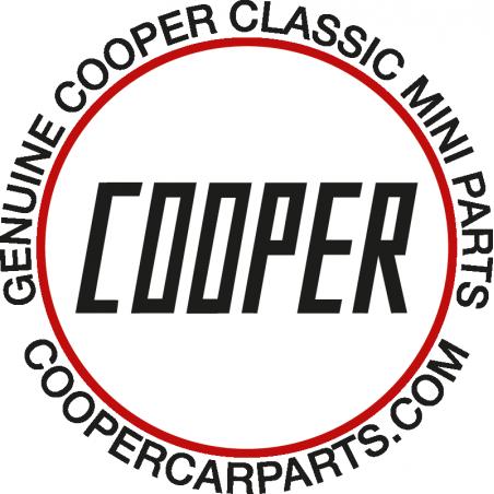 Autocollant Cooper rond 90 mm-Austin Mini