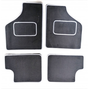 4 tapis de sol Gris liseré gris-Austin Mini