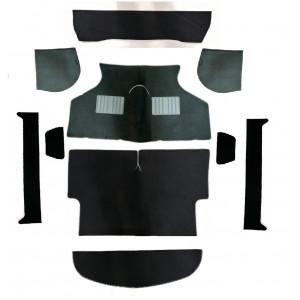 Kit moquette 10 pièces Luxe Noir burdure noire et grise -