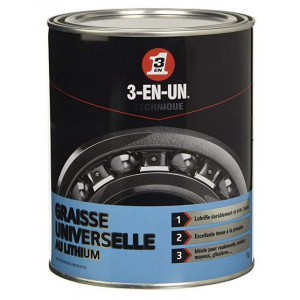 3-en-un Graisse Universelle Lithium Pot 1kg