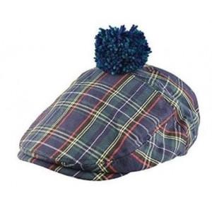 Casquette '' Scottish '' tartan vert et bleu / taille au choix