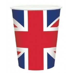 lot de 20 gobelets plastique Union Jack