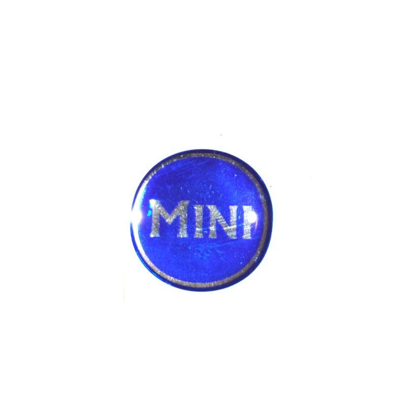 Autocolant Mini bleu (27 mm) - Austin Mini