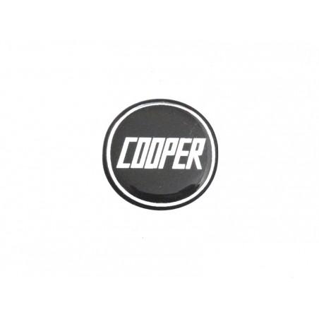 Autocollant Cooper noir (27 mm) - Austin Mini-Austin Mini
