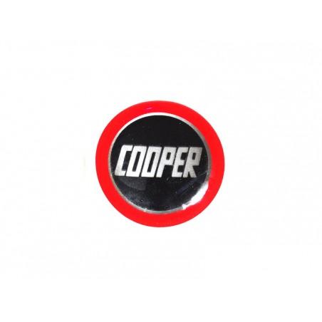 Autocollant Cooper noir cercle rouge (27 mm) - Austin