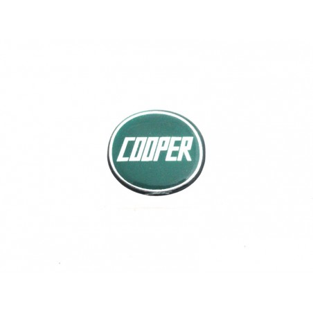 Autocollant Cooper vert (27 mm) - Austin Mini-Austin Mini