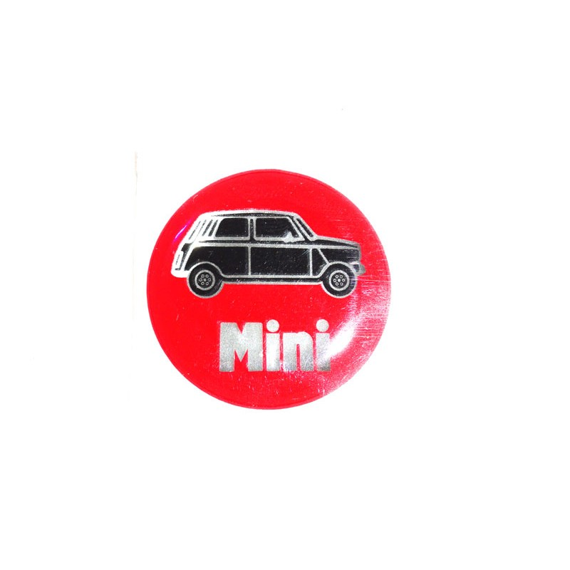 Autocolant Rouge dessin Mini (27 mm) - Austin Mini