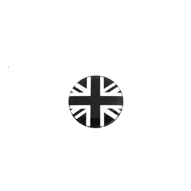 Autocolant Union jack gris / noir (27 mm) - Austin Mini