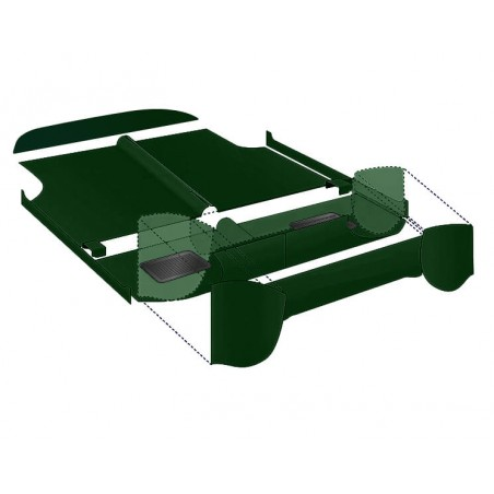 Kit moquette 10 pièces Luxe Vert Anglais-Austin Mini