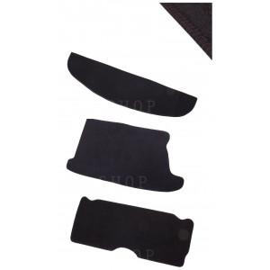 Kit 3 pièces moquette noir