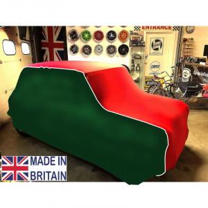 Housse intérieur spéciale - Austin Mini - Rouge / Verte couture