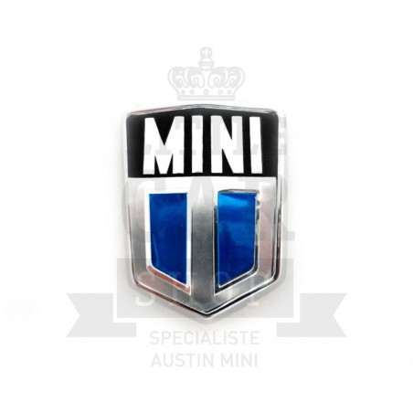 Badge Capot  Mini bleu 1969 -1996 - Austin Mini