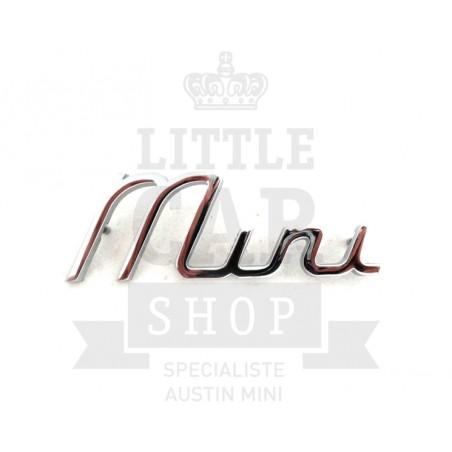 Script de malle ''Mini'' écriture-Austin Mini