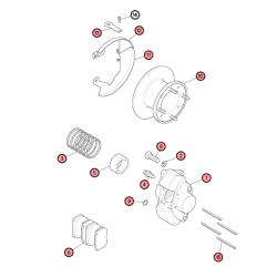 AA5F - Vue éclatée frein à disque 7'' et 7.5'' pouces