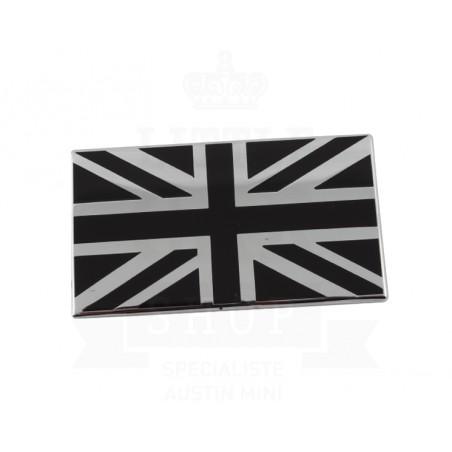 Badge drapeau anglais émail (noir) à coller - Austin Mini