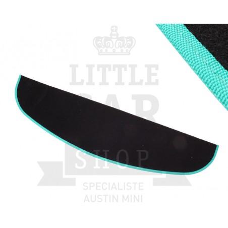 Plage Arrière (noir) liseré vert - Austin Mini