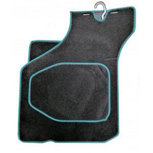 4 tapis de sol (noir) liseré vert/noir