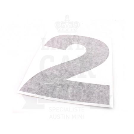 Autocollant course numéro 2 - Austin Mini-Austin Mini