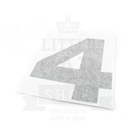 Autocollant course numéro 4 - Austin Mini