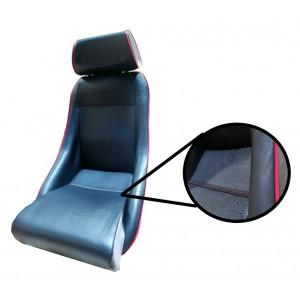 Siège Cobra® Classic avec appui tête - Noir liseré rouge /