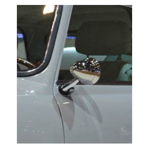 Rétro obus G - spécial Mini - INOX  - ''classic'' CONVEXE - Austin Mini