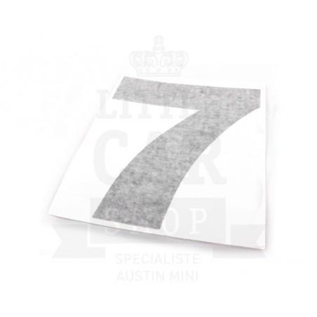 Autocollant course numéro 7 - Austin Mini-Austin Mini